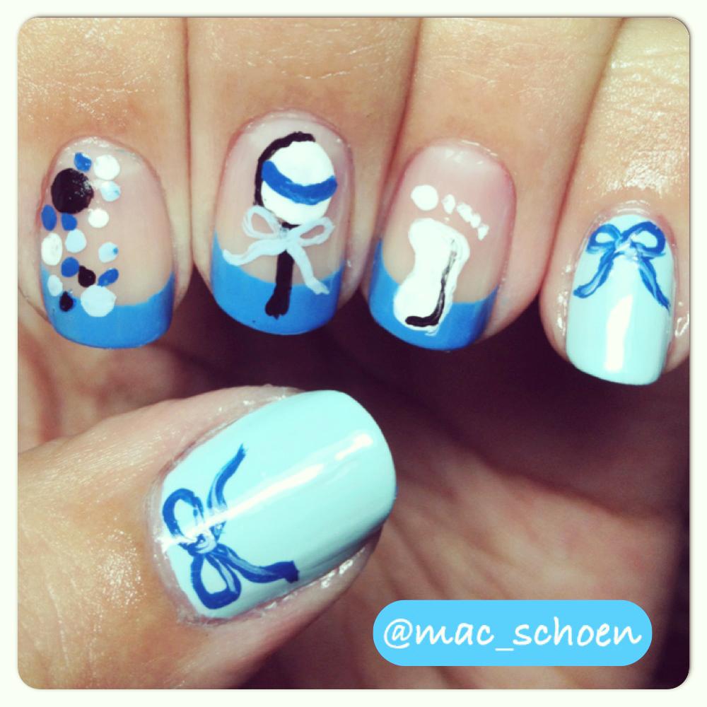nail art tips for creating baby shower nails