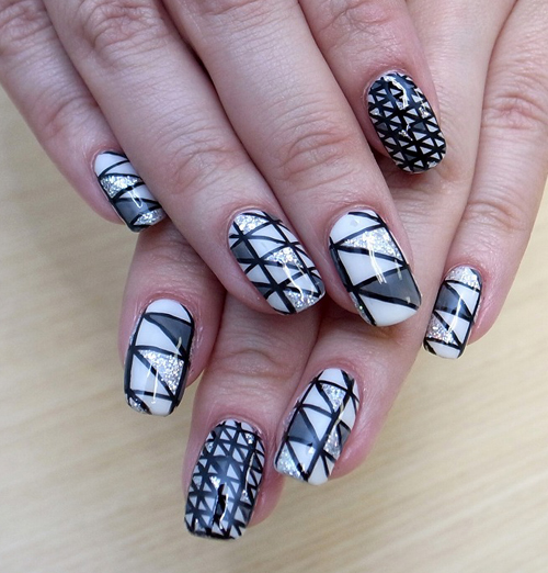 Stained Glass Nail Art: Nail Art How To, Nail Designs, Nail Tutorial, CALGEL, Nail