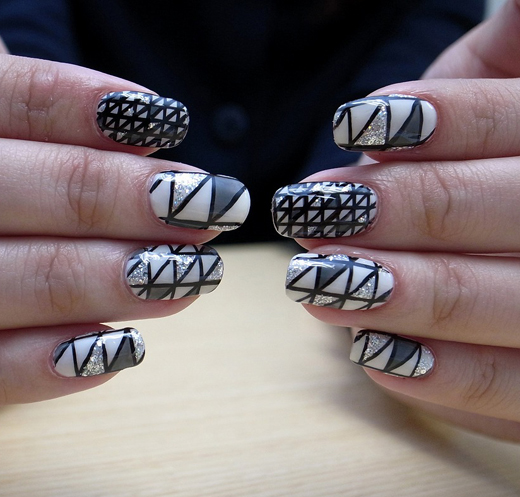 Nail Art How To: Geometric Stained Glass Nails