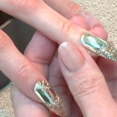 Nail Art Video: Metallic Nail Tips (Behind the Nail Pros Aug. 2010)