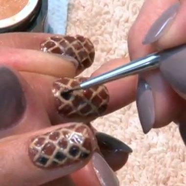Nail Art Video: Snakeskin Nails II (Aug. 2011): Behind the Nail Pros
