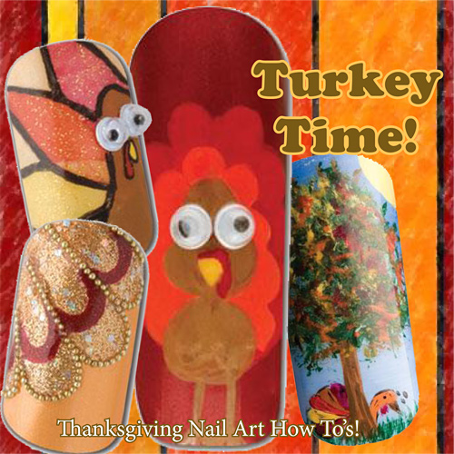 Nail Art How To: Turkey Time!