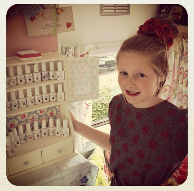 12-Year-Old Nail Prodigy Sets Up Salon In Her Caravan