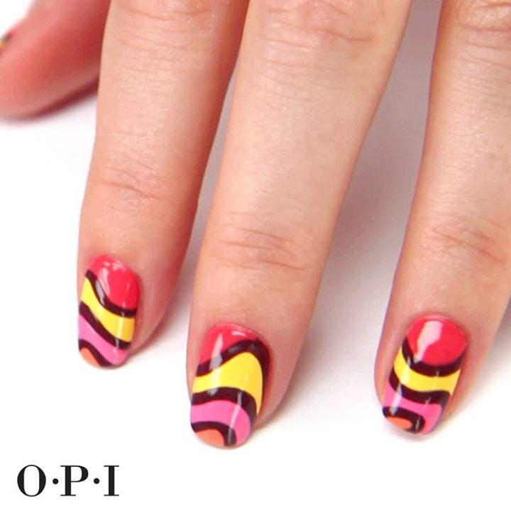 Nail Art Tutorial: Wavy OPI Brazil Design