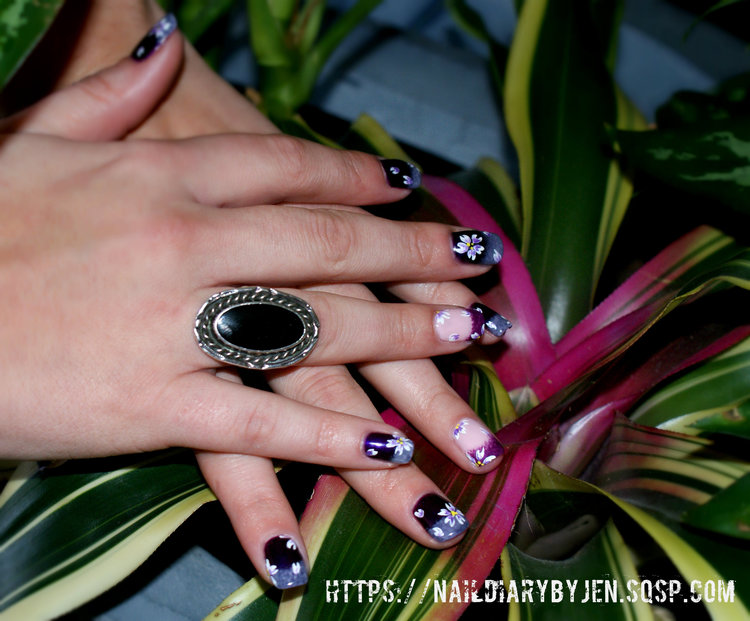 Nail Art How To: Floral Purple Gel Nails