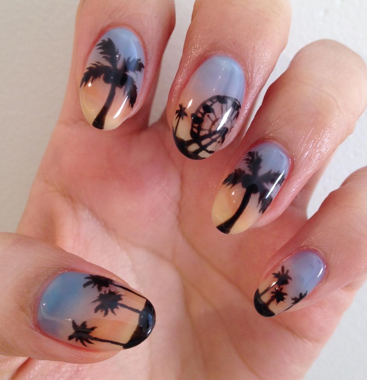 Coachella Nail Art: Nail Art How To, Nail Designs, Coachella Palm Trees