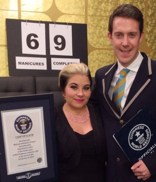Naja Rickette Sets New Guinness World Record for Most Nails Polished