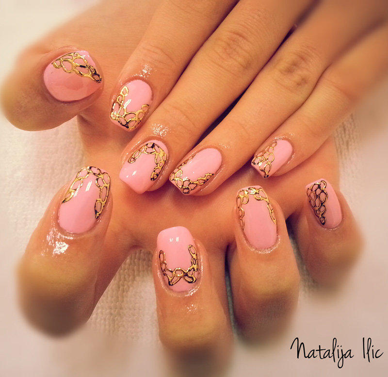 Nail Art Tutorial: Intricate Gold Foil Designs