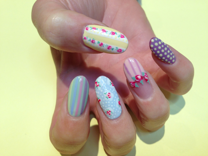 Nail Art Tutorial: Pastel Flower Nails