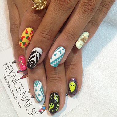 The Best Music Festival Nail Art