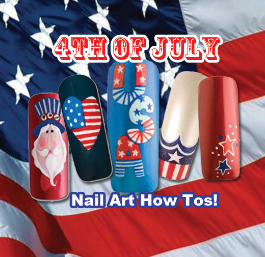 Nail Art How To: 4th of July!