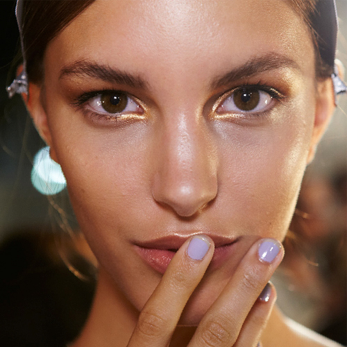 NYFW Nails S/S 2014: French Tipped Lavender at Wes Gordon