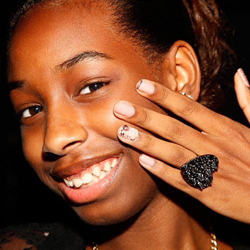 Nail News: 13-Year-Old Alanna Polishes Nails at NYFW