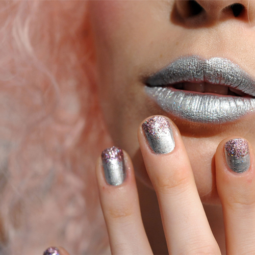 NYFW Nails S/S 2014: Pinks and Glitters at Betsey Johnson and Douglas Hannant