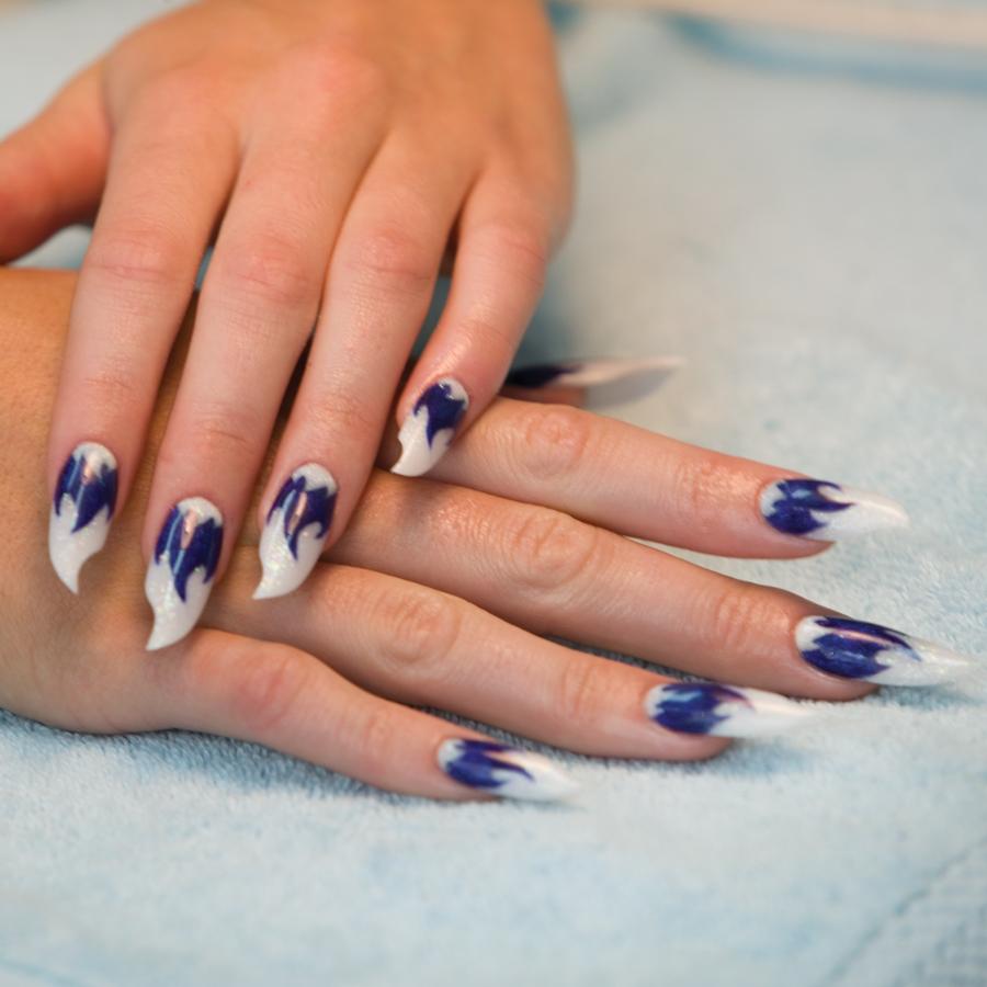 Nail Art Tutorial: Sassy Blue Flames