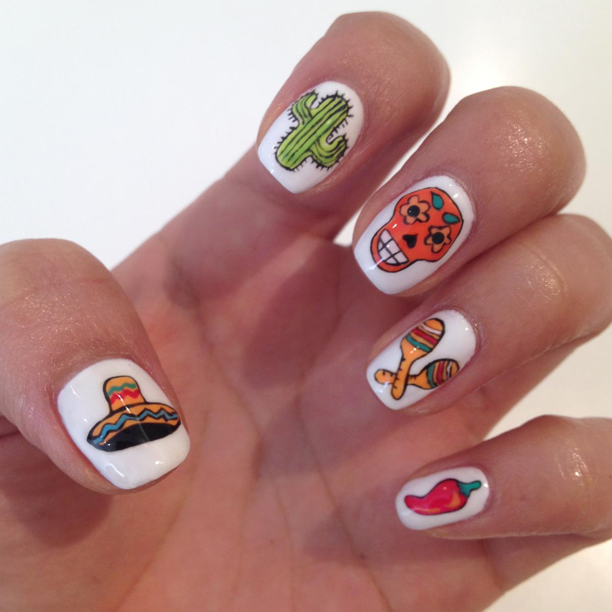 Nail Art Tutorial: Cinco de Mayo Nails