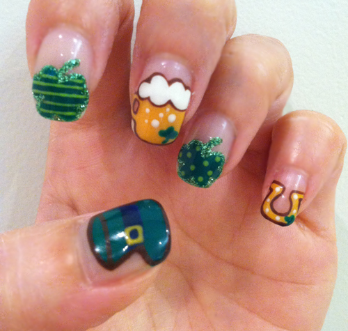 Nail Art Tutorial: St. Patrick