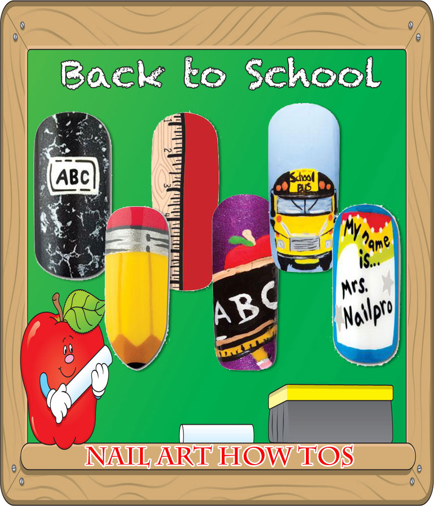 Nail Art How To: Back to School!