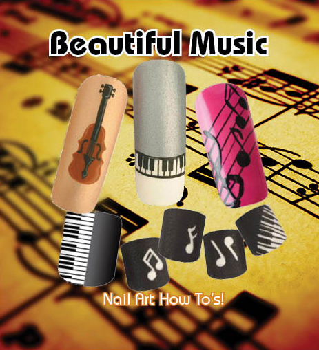 Nail Art How To: Beautiful Music