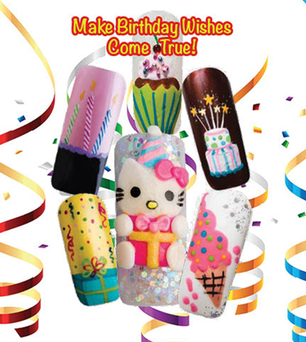 Nail Art How To: Birthday Surprise!