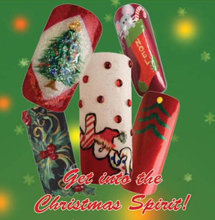 Nail Art How To: Christmas Spirit!