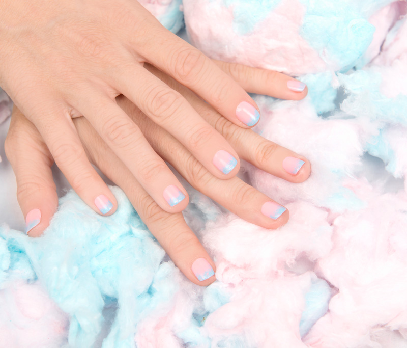 Nail Art Tutorial: Cotton Candy
