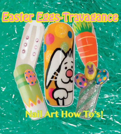 Nail Art How To: Easter Eggs-Travagance!