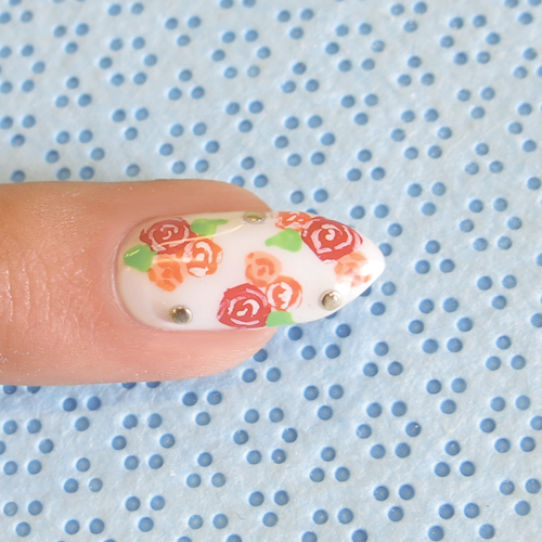 Nail Art Tutorial: Bunches of Roses