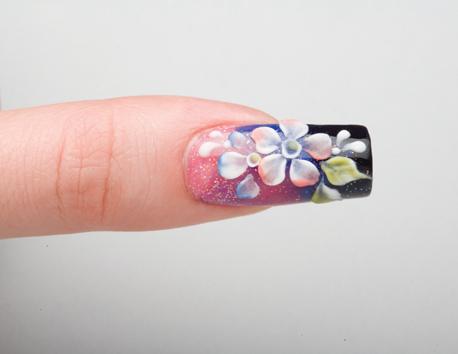 Nail Art Tutorial: Multicolored Acrylic Floral Nails