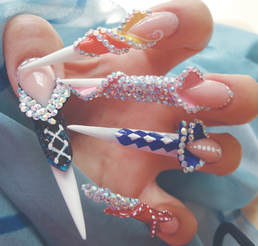 Nail Art Tutorial: Carnivale Sculpted Nails