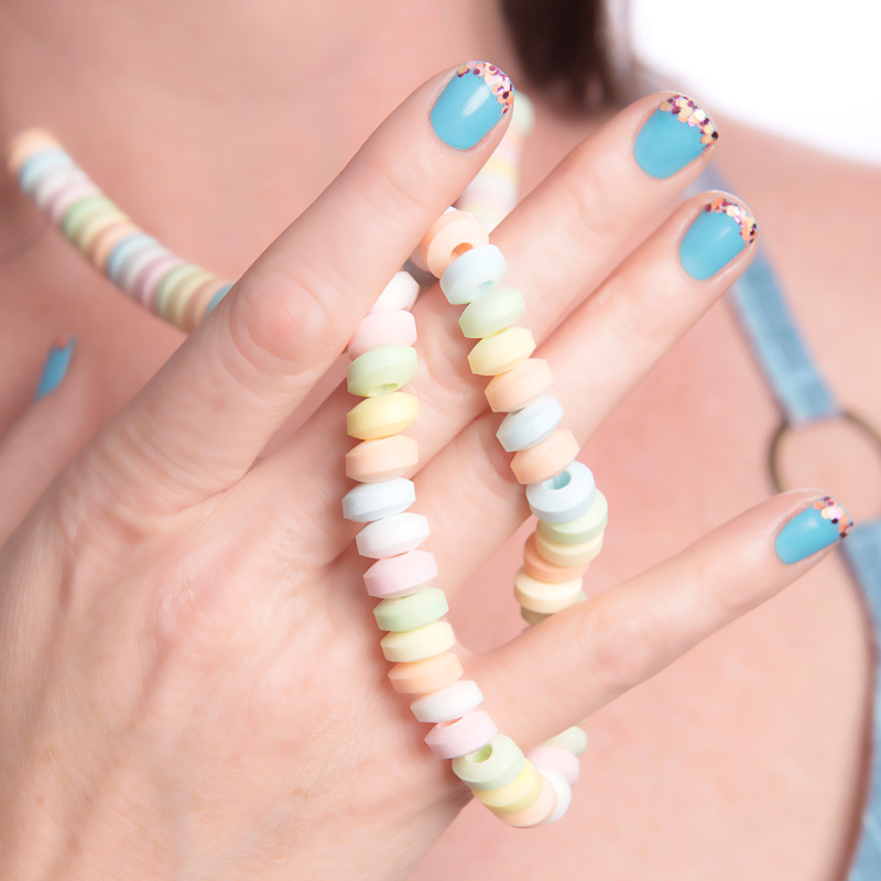 Nail Art Tutorial: Candy French Manicure