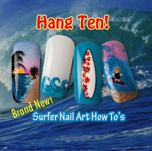 Nail Art How To: Hang Ten!