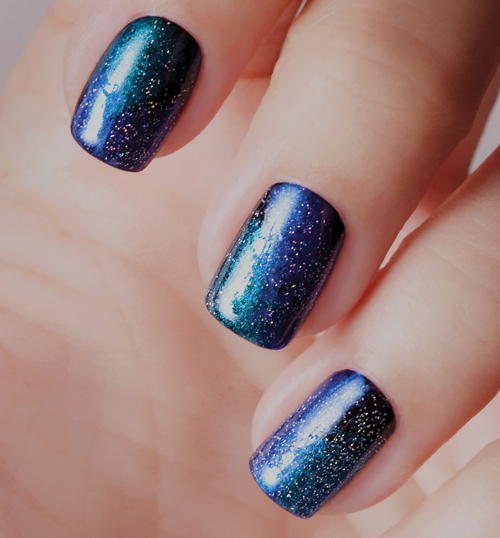 Nail Art Tutorial: Starry Night Nails