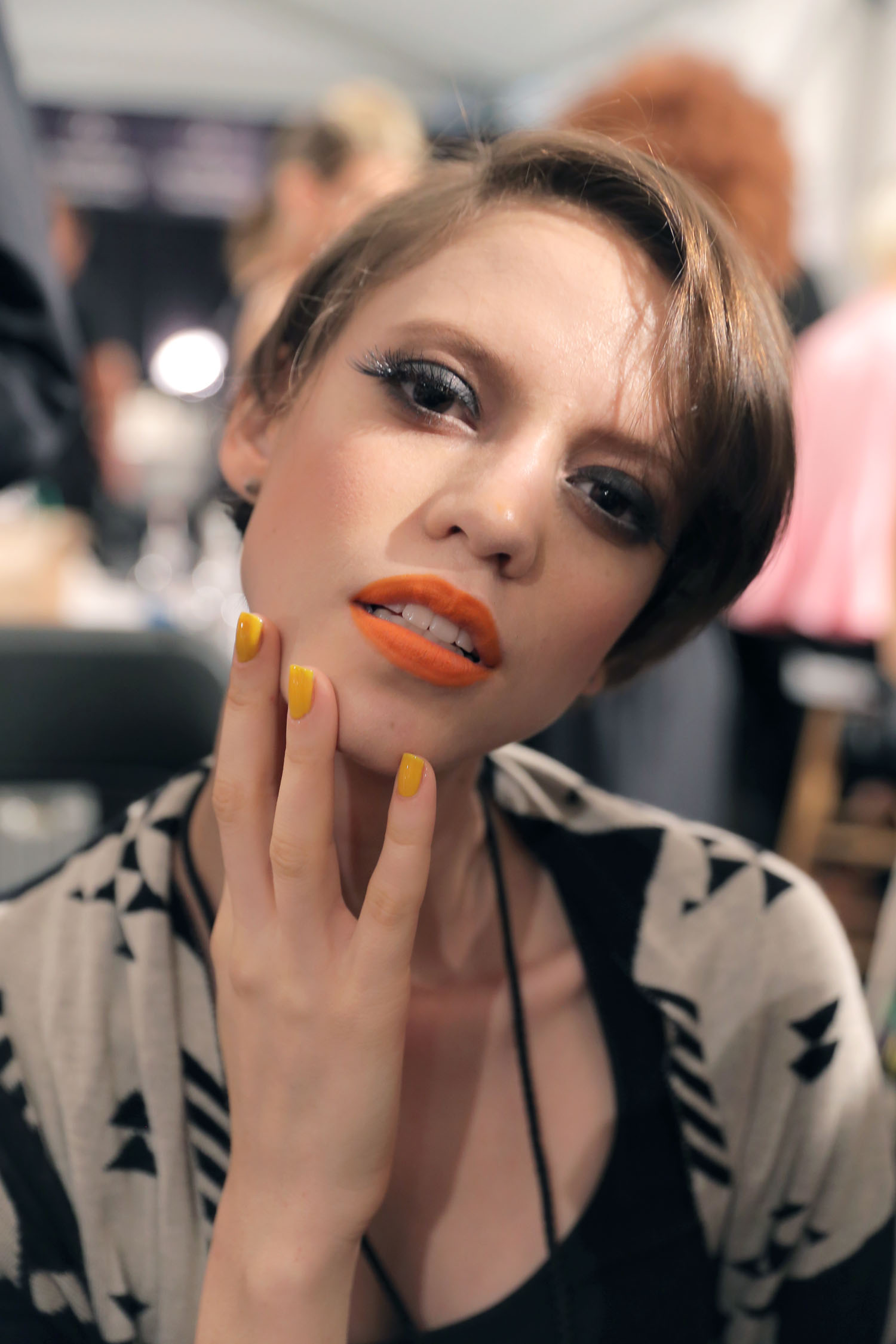 NYFW S/S Nails 2014: OPI Brights Paired With Earth Tones