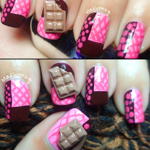 Nail Art How To: Raspberry Chocolate Nails