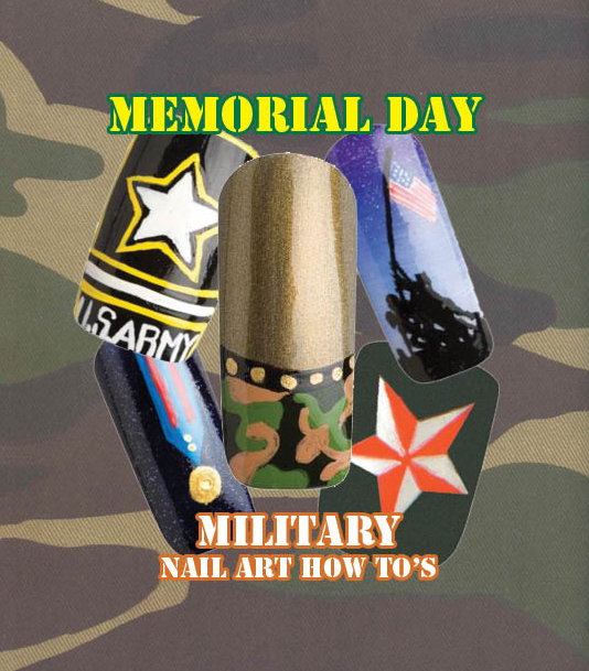 Nail Art How To: Memorial Day Support our Troops!