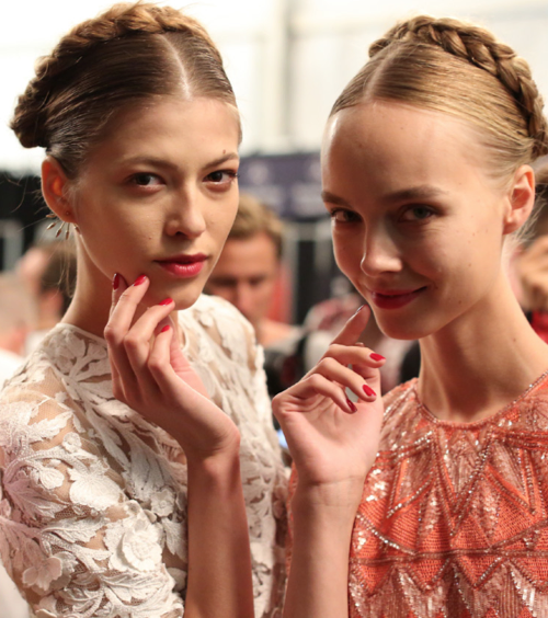 NYFW Nails S/S 2014: Red and Bubblegum at Naeem Khan