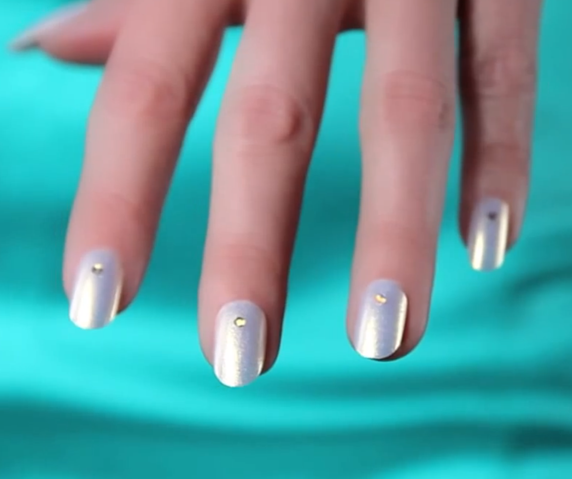Nail Art Tutorial: OPI Ice Angel Manicure