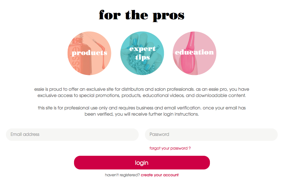 New Essie For The Pros Website