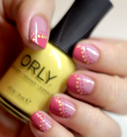 Nail Art Tutorial: Orly Spring Polka Dot Design