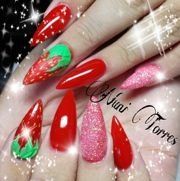 - Nail Art Tutorial, Nail Designs, Nail Art How To, Strawberry Nails