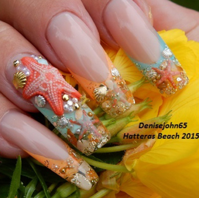 Nail Art Tutorial Starfish Ocean Nails
