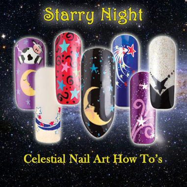 Nail Art How To: Starry Night