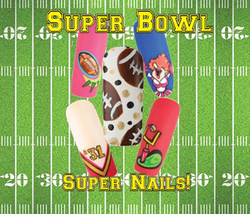 Nail Art How To: Super Bowl Super Nails!