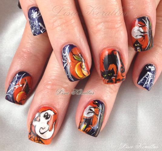 Boo-nus Halloween Nail Art!
