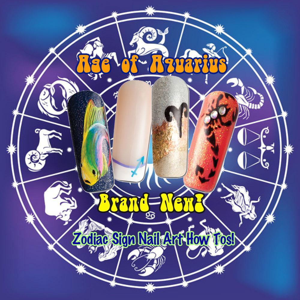 Nail Art How To: Age of Aquarius!