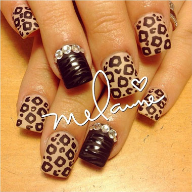 Nail Art Tutorial: Cheetah and Zebra Animal Print Nails
