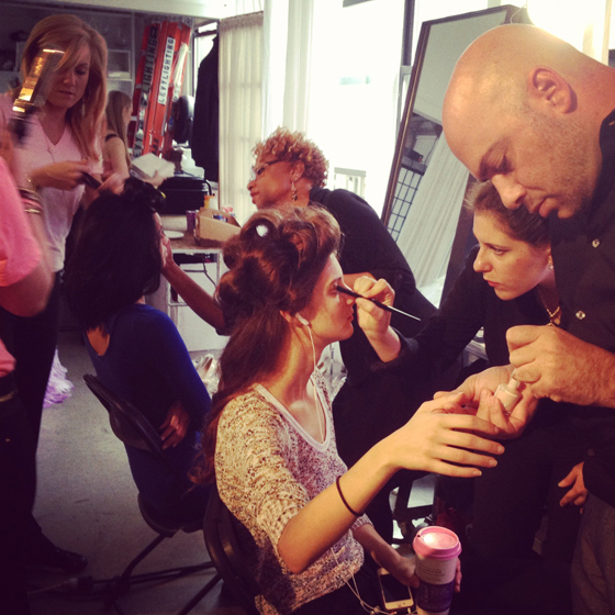 Nail Designs How To: LCN Backstage at the Kelly Faetanini Bridal Show