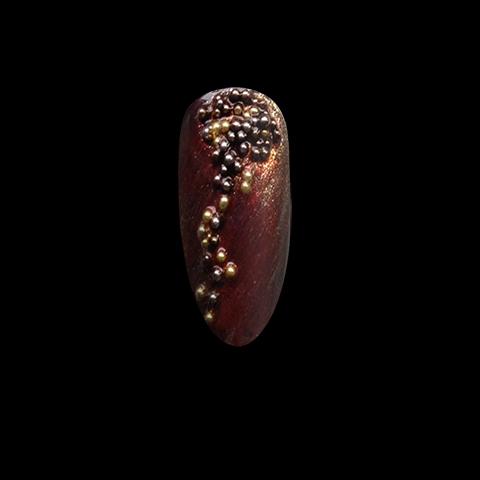 Nail Art Tutorial VIDEO: Metallic Beaded Manicure