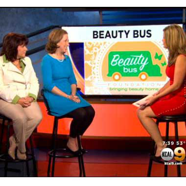 Video: Beauty Bus Joins KCAL9 News